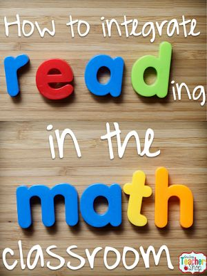 Lots of ideas for integrating reading in any math classroom lesson.
