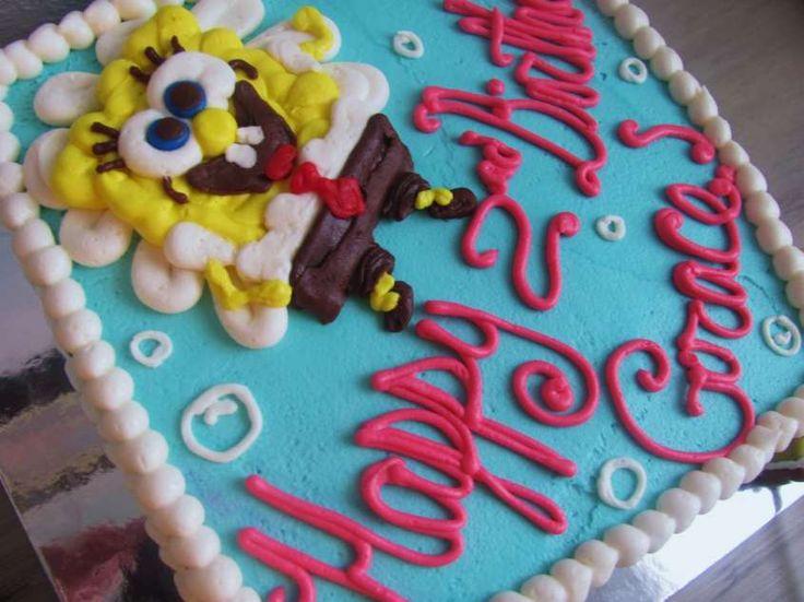 Torte di compleanno facili - Torta Sponge Bob