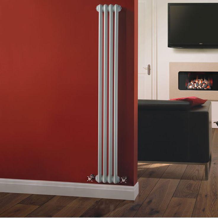 Radiateur Vertical Style Fonte Blanc Windsor 150cm x 20,3cm x 6,8cm 548 Watts - Image 1