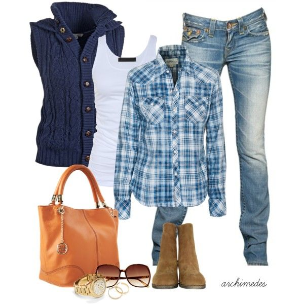 Cute fall outfit minus purse and boots!