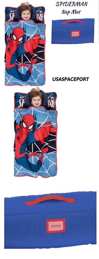 Sleeping Bags 48091: Marvel Spiderman Boys Nap Mat Toddler Daycare Preschool Blanket + Pillow Bed Set -> BUY IT NOW ONLY: $38.88 on eBay!