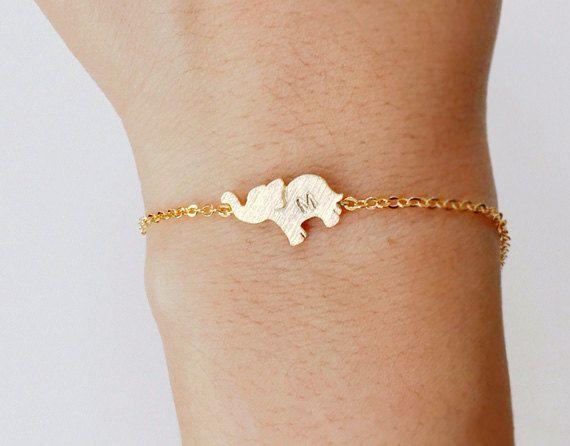 Elephant bracelet, Personalized bracelet, initial bracelet, Personalized Jewelry, friendship bracelet  This is Elephant bracelet. So cute&