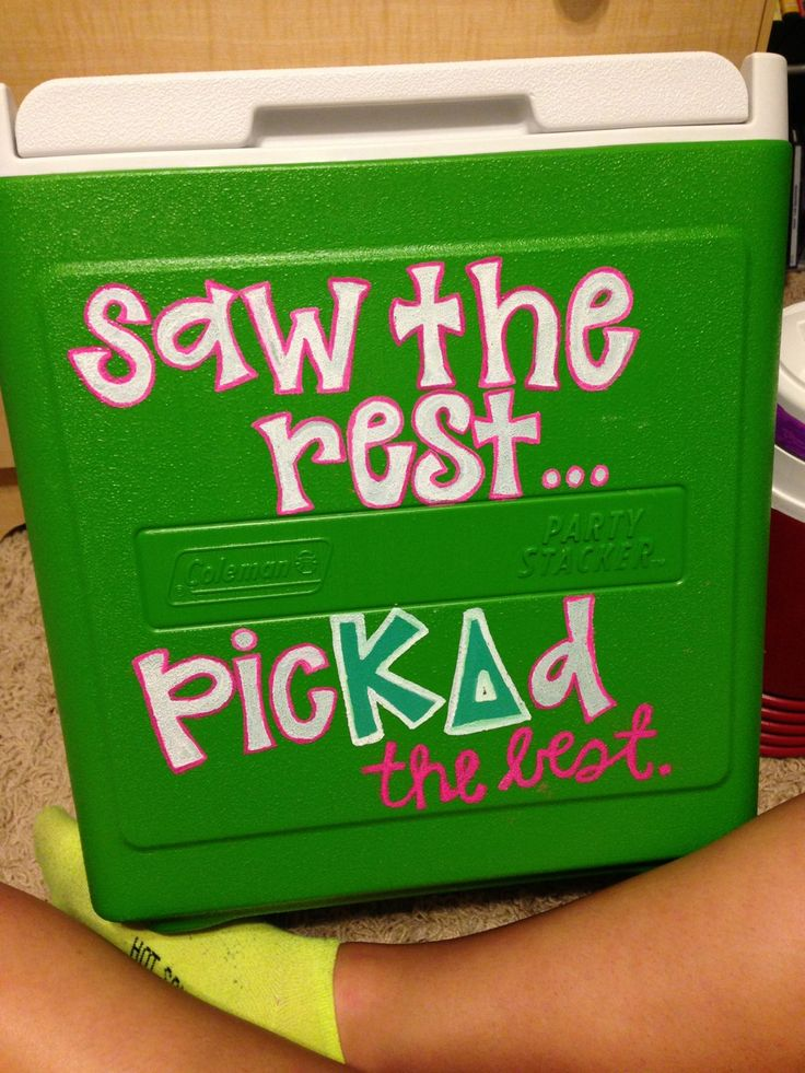 foreverrrandalmost-always:  Working on my cooler!