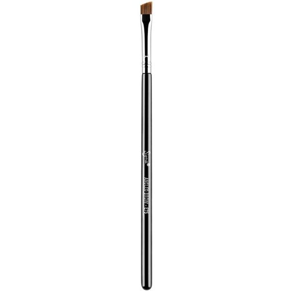 Sigma Beauty E75 Angled Brow Brush ($17) ❤ liked on Polyvore featuring beauty products, makeup, makeup tools, makeup brushes, no color, slanted makeup brush, sigma cosmetic brushes, sigma makeup brushes and angled makeup brush