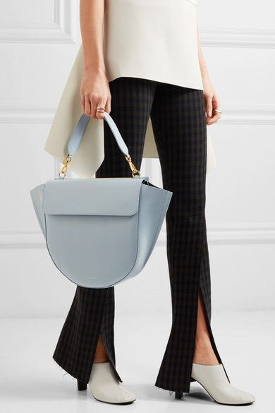 Pale-blue leather (Calf) Magnetic-fastening front flap Weighs approximately 3.1lbs/ 1.4kg Made in Italy