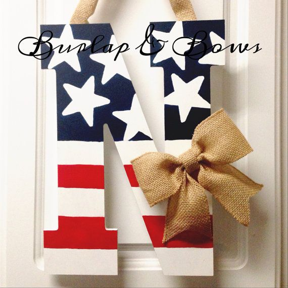 4th of July door hanger red white & blue by TheLittleChandelier, $27.00