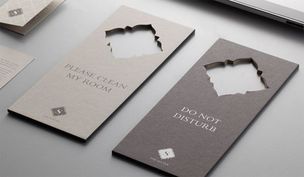 The Sultan Hotel Brand Collateral (you can do this if your logo is a clean, simple shape)