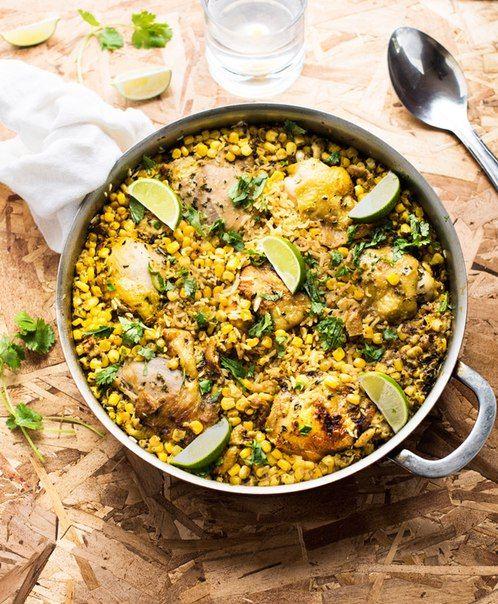 Бразильская курица с рисом