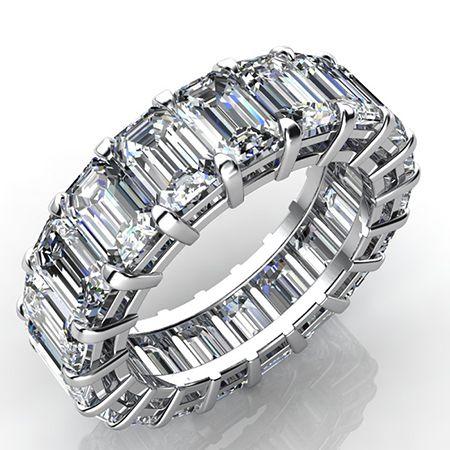 2.5 Carat Emerald Cut Diamond Eternity Band VS2 F - BeverlyDiamonds.com