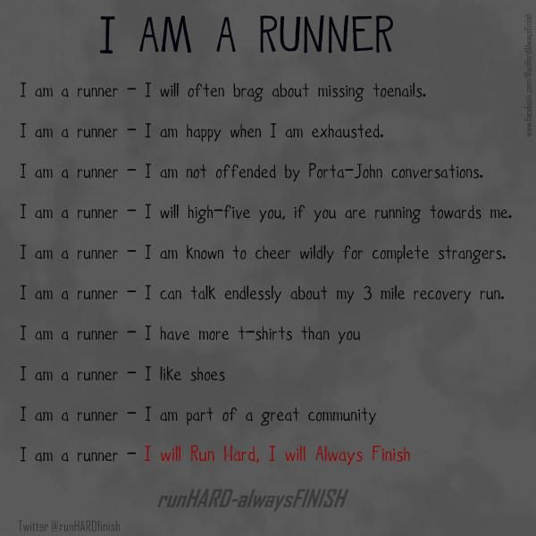 I am a runner #running #motivation #inspiration