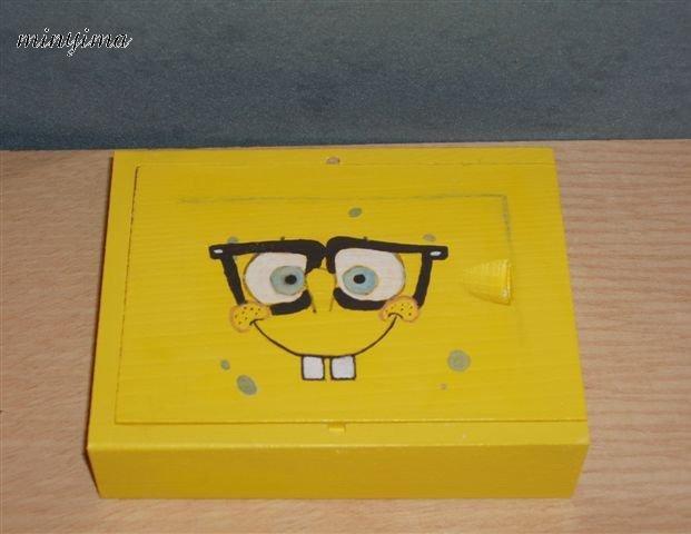 Box of kid cards - Painted SpongeBob