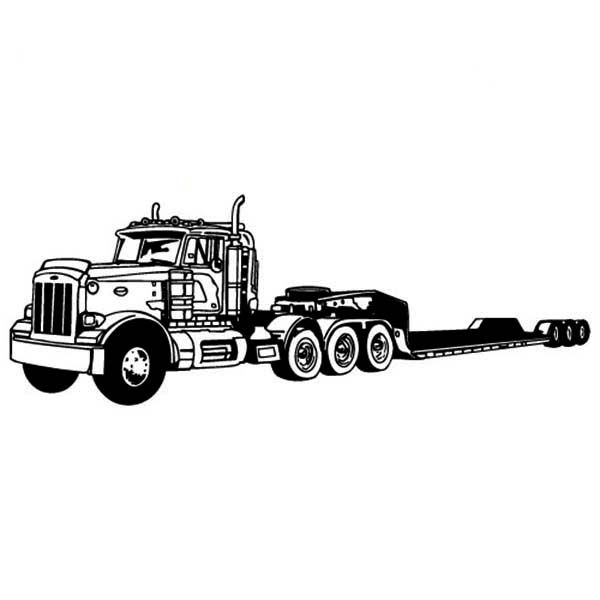 amazing long tail semi truck coloring page