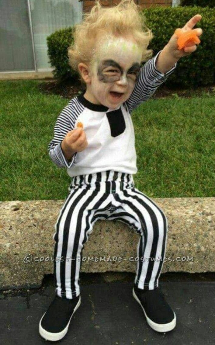 cute diy beetlejuice costume for a toddler