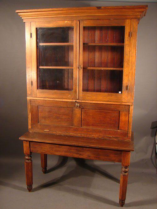 Vintage Secretary Desk 237 Antique American Pine
