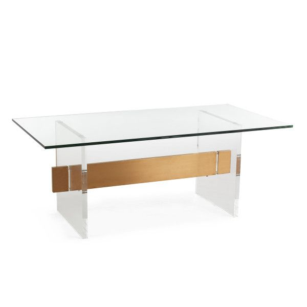 Acrylic Glass And Brass Coffee Table Wisteria Coffee Table
