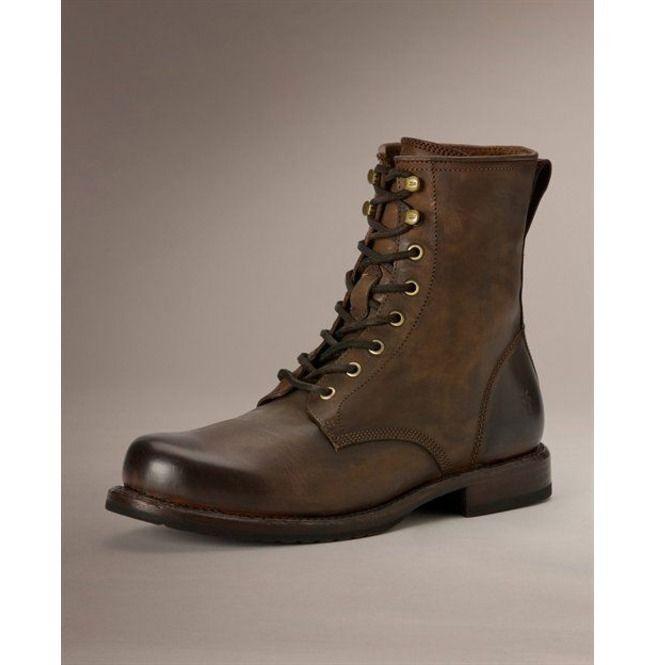 1f4f3e15d6c97 Handmade Men Brown Combat Boot