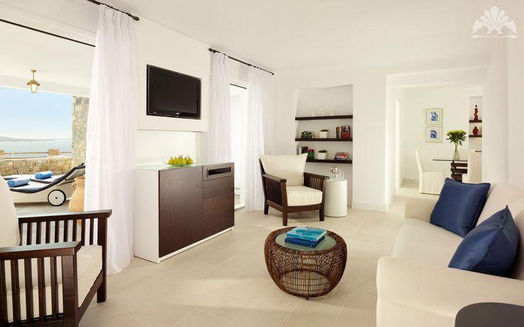 Simple modern Mykonos elegance at the Mykonos Grand