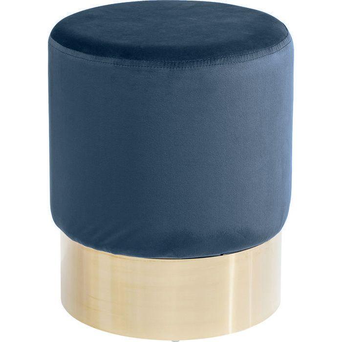 Sittpuff | pall Blå sammet