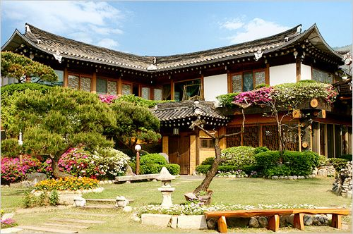 Traditional Hanok in Korea.