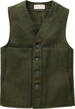 For my special husband - Filson® Mackinaw Wool Vest, Men's Big Game Vests, Men's Layering Clothing, Men's Hunting Clothing, Clothing : Cabela's