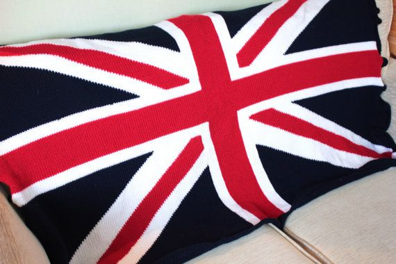 Knitting Pattern For Union Jack Blanket : union jack blanket - union jack throw - knitted afghan Union Jack Pintere...