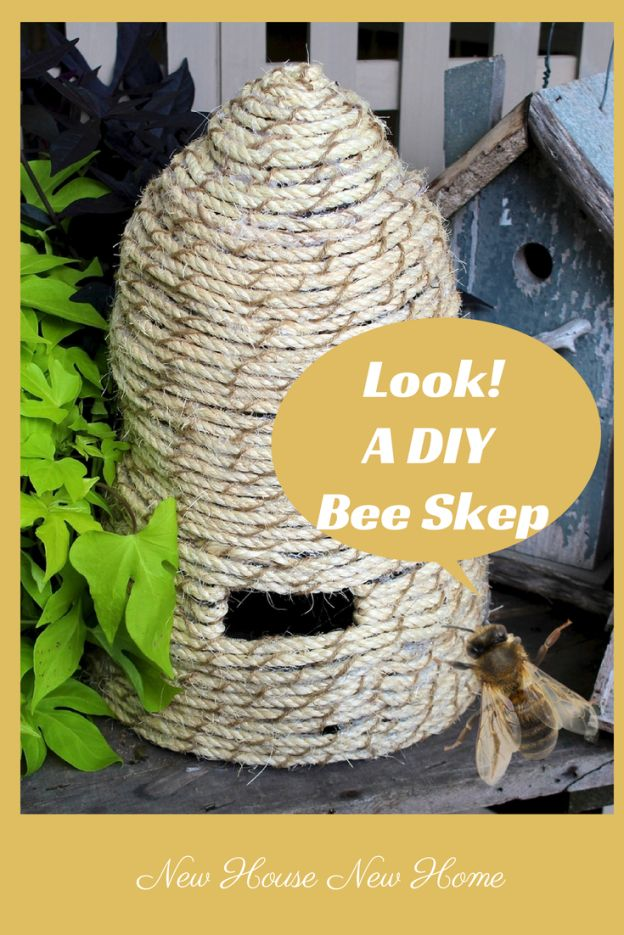 DIY Bee Skep. Cute - just for show or...
