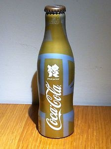 Olympic Gold Limited Edition Diet Coke Bottle - Collectors Item Rare
