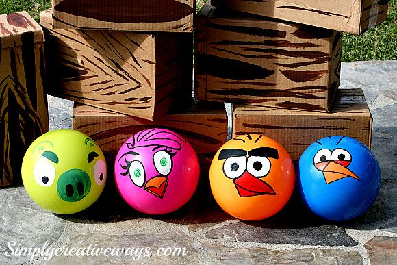 Angry Birds Balls to shoot the Angry Bird Boxes using the Life Size Angry Bird…
