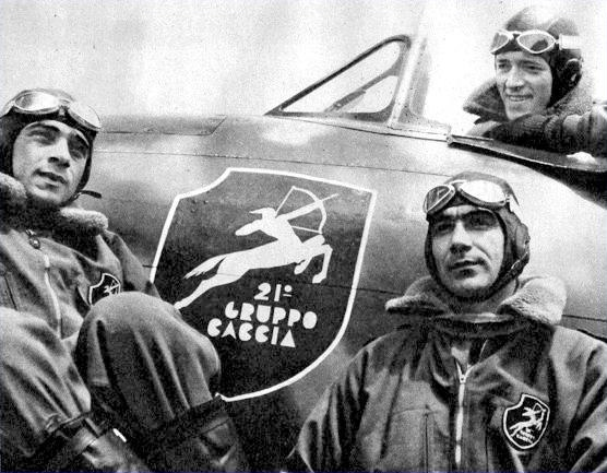 """Italian  fighters pilots belonging to the """"21° Gruppo Caccia"""". WW II. Pin by Paolo Marzioli"""