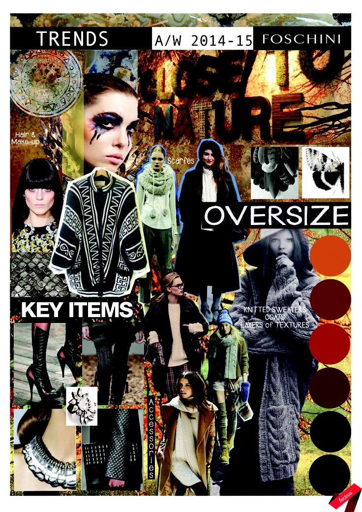 Autumn/ Winter 2014-15 trends: Key Items board. #trend #oversize #knitwear