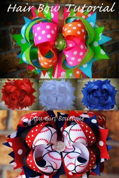 Boutique Hairbow Tutorial - How to make boutique hair bows - Girls Bows - Custom Hair bow - Boutique hairbows - over the top boutique bows