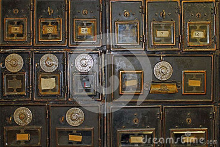 Antique Mailboxes in an Post Office
