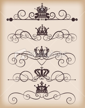 Victorian Scrolls and Crowns