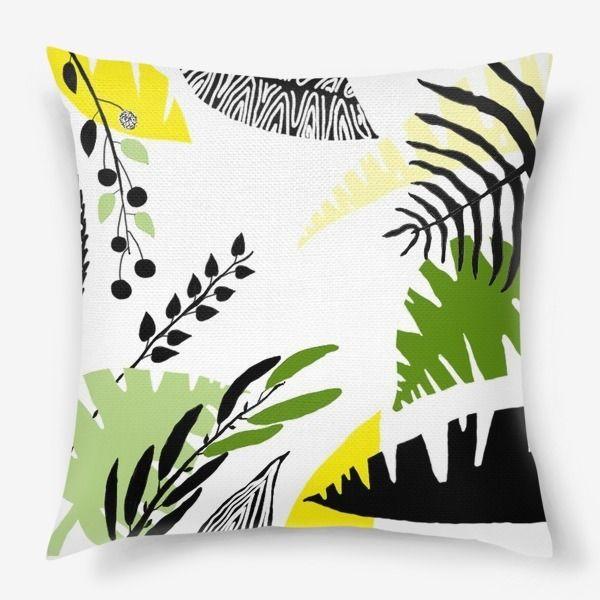 Подушка «Тропические листья»