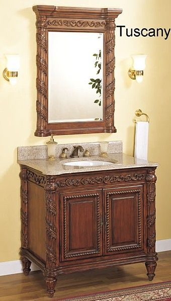 Tuscan bathroom vanity empire tuscany bathroom sink for Tuscan bathroom vanity cabinets
