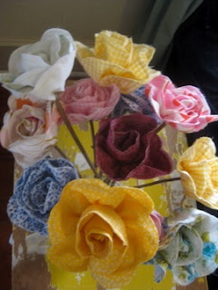 Fabric flowers from wifey.