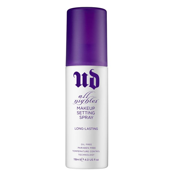 I can literally spray this on my face at 7 p.m. and wake up at 10:30 am and my make up is still in place. magical. All Nighter Long-Lasting Makeup Setting Spray by Urban Decay