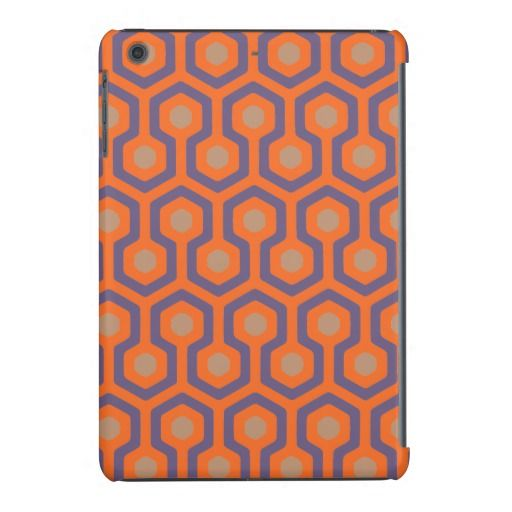 Orange/Electric Blue/Cappuccino Beehive Pattern iPad Mini Retina Case - Exclusive colors and geometric pattern. Tought for coffee and Cappuccino lovers!