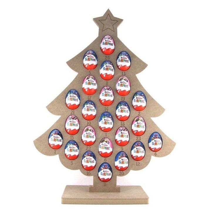 Kinder Egg Christmas Tree Advent Calendar | Christmas | Christmas tree advent calendar, Mdf ...