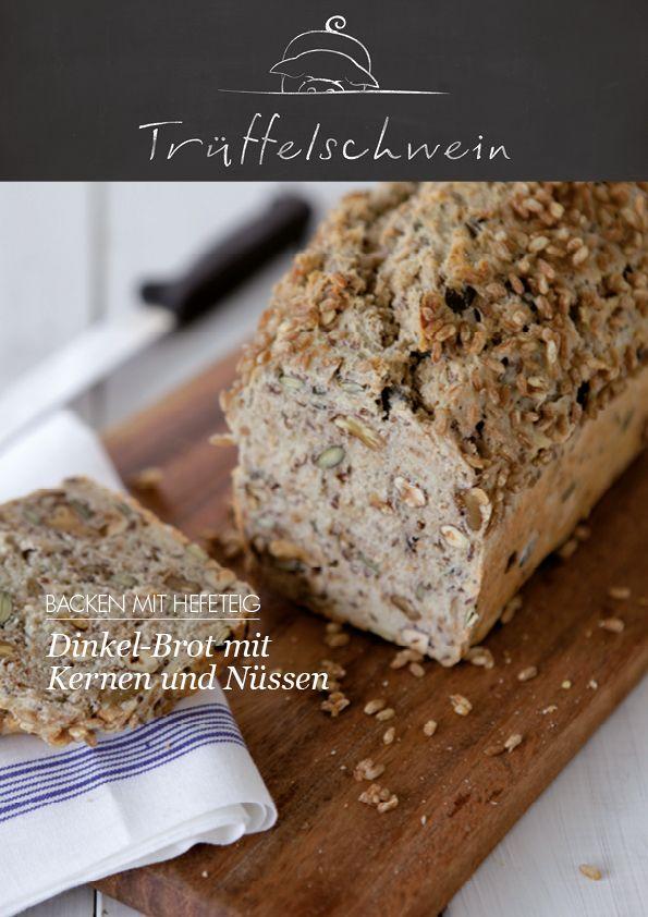 Dinkel-Brot mit Kernen und Nüssen