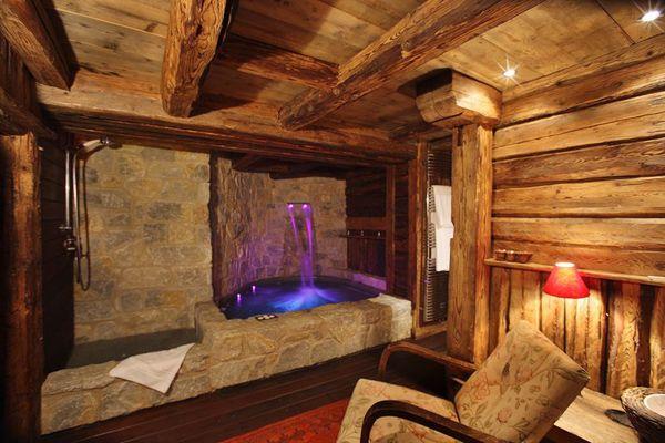 Salle d 39 eau chalet de luxe courchevel chalet pied des - Salle de bain de reve ...