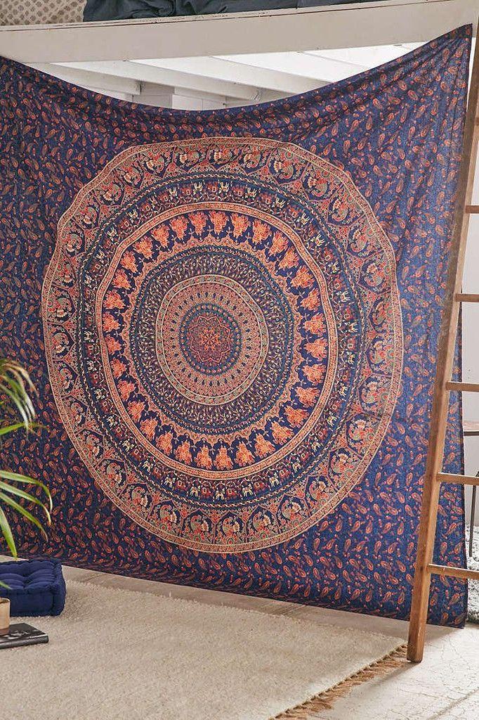 The Eberlee Large Hippie Tapestry Mandala Bohemian Elephant Bedspread Throw - GoGetGlam  - 1