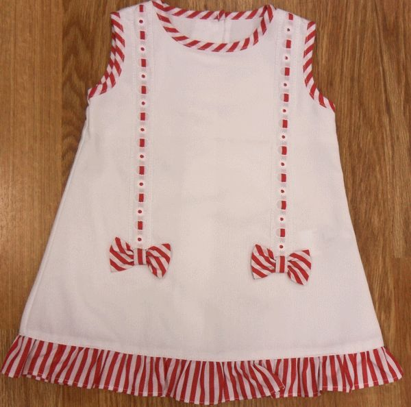 Vestido pasacintas (pt-07) Tallas 3-12 y 18 meses 34,90 eur