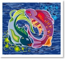 Pisces are governed by a duality, a struggle of the spiritual soul within the physical body.     Great explanation of Pisces