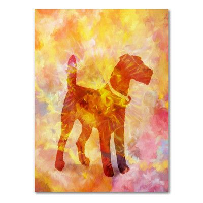 Trademark Art 'Colorful Dog' by Adam Kadmos Painting Print on Wrapped Canvas Size: