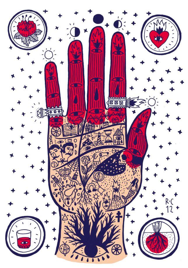 RICARDO·CAVOLO DIARY: Life Hand (silkprint).