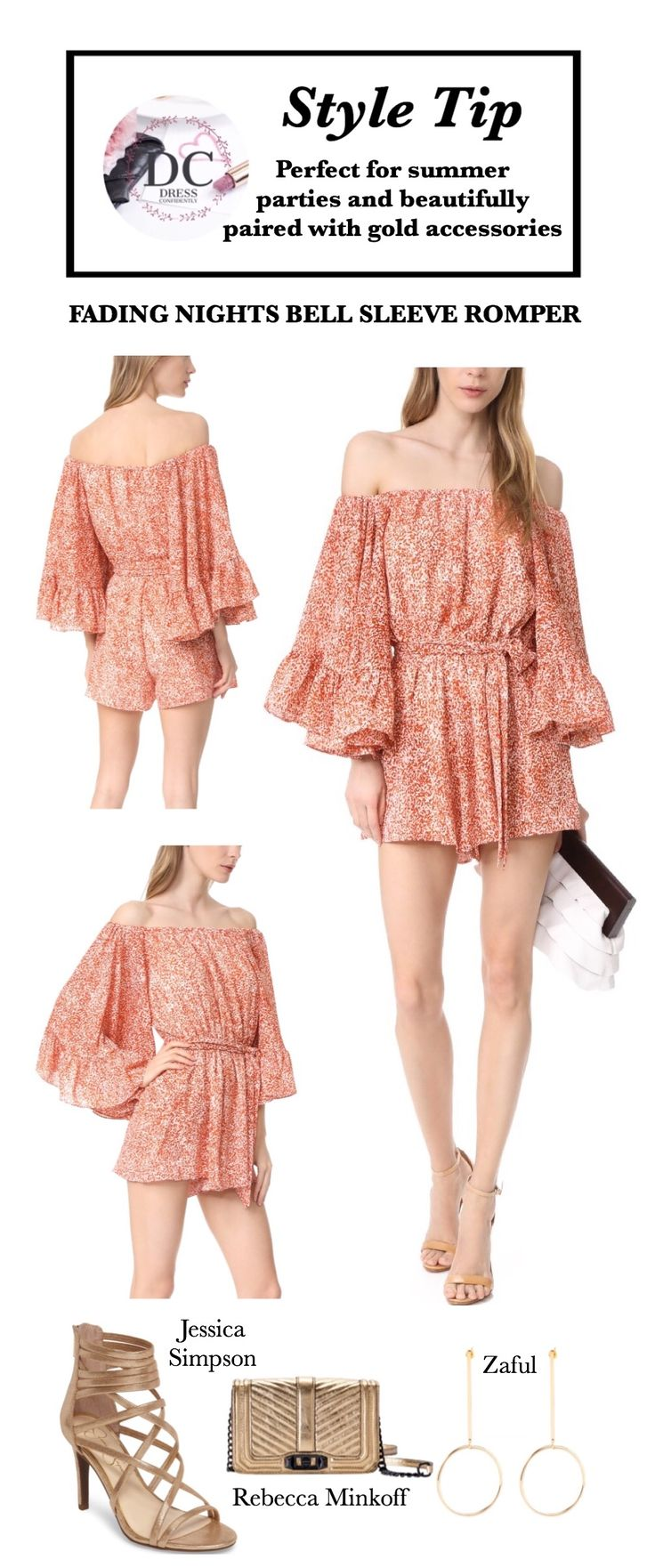 Fading Night Bell Sleeve Romper Rompers Women Outfit, Rompers Summer, Romper Dress, Style Inspiration, Style Tip, Fashion Style