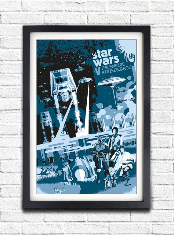 Star Wars - V The Empire Strikes Back - 19x13 Poster Hello :) ................................................................................ THE POSTER The poster is officially stamped and individually, personally signed and numbered on the back (As seen in the photos). Then wrapped in tissue paper for more protection and then posted in a hard tube. ................................................................................ THE SIZE I have clarified the sizing better below Poste...