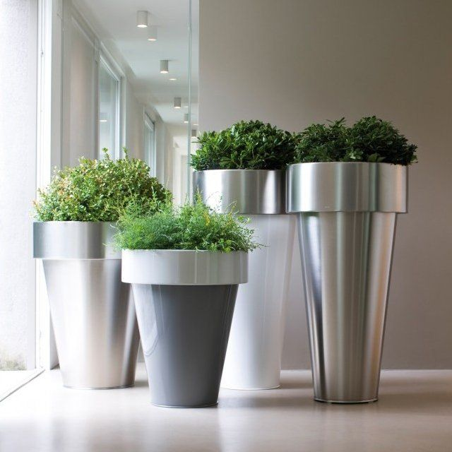 25 best planteros images on pinterest garden deco for Fancy flower pots