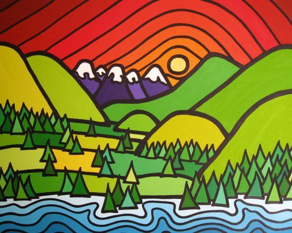 Art Print Creighton Valley Okanagan 8 x 10 by artist Leanne Spanza